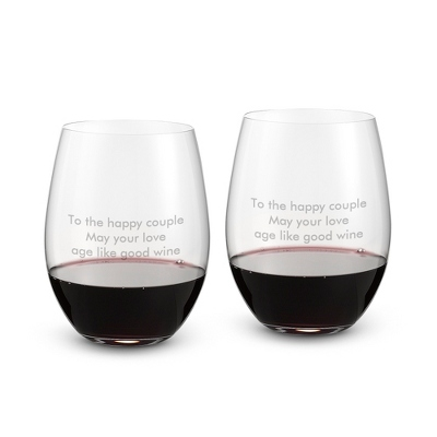 "Riedel ""O"" Stemless Cabernet Merlot Set of 2 Glasses"