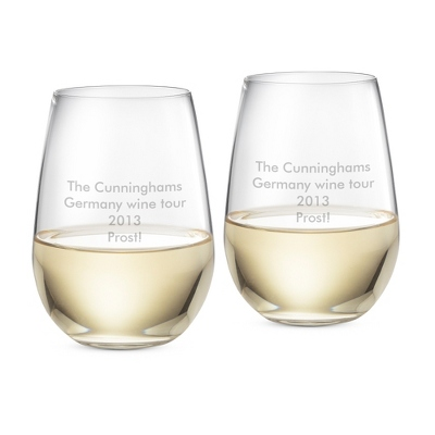 "Riedel ""O"" Stemless Riesling Sauvignon Blanc Glasses - Barware & Accessories"