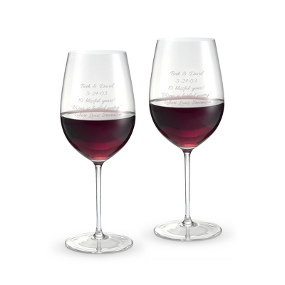 Engraved Riedel Wine Glasses - 4 products