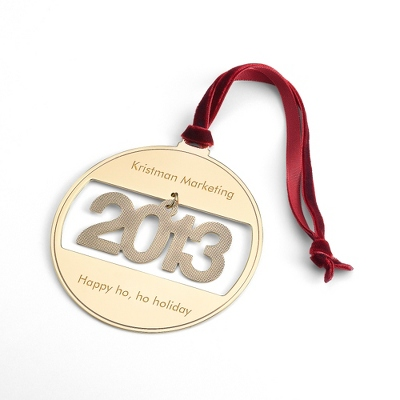 2013 Gold Ball Ornament - $9.99