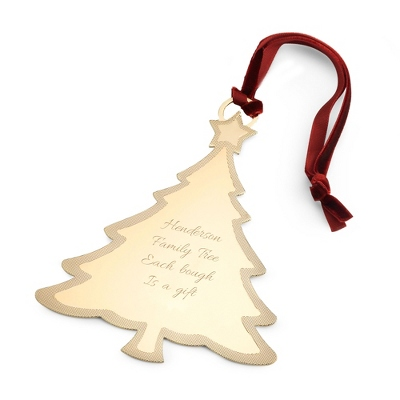 2013 Gold Tree Ornament - UPC 825008345751