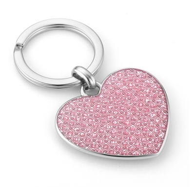 Pink Sparkle Heart Key Chain - UPC 825008345980