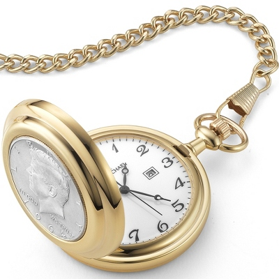 1964 Kennedy Half Dollar Pocket Watch - Men's Jewelry
