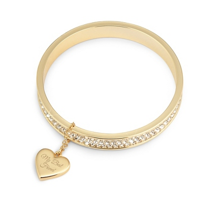 Gold Sparkle Bangle with complimentary Filigree Keepsake Box - Fashion Bracelets & Bangles