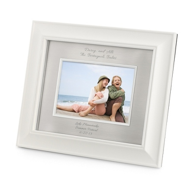 Personalized Landscape Greenwich Silver 5X7 Frame