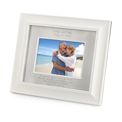 Personalized Landscape Greenwich Silver 8x10 Frame