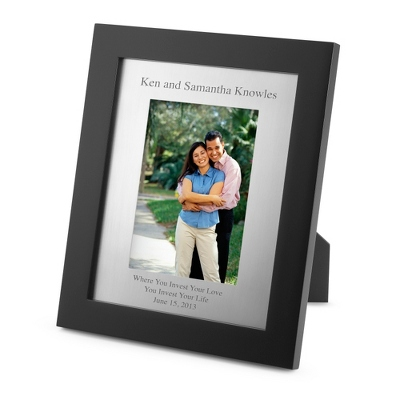 Portrait Black Wood 5x7 Silver Matte Frame - Frames for Him