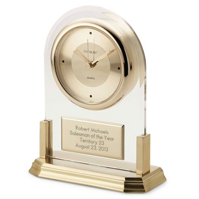 Brass Acrylic Clock - Business Clocks