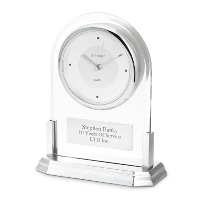 Silver Acrylic Clock - Business Clocks