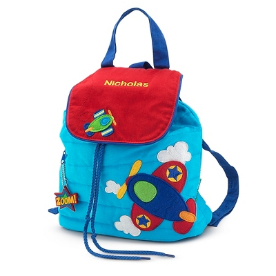 Airplane Quilted Backpack - $25.00