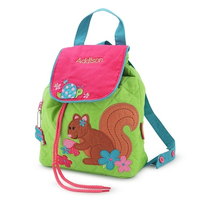 Personalized Squirrel Quilted Backpack