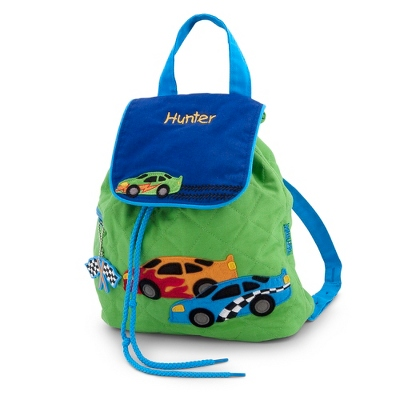 Race Car Quilted Backpack - Kid's Backpacks & Travel Bags
