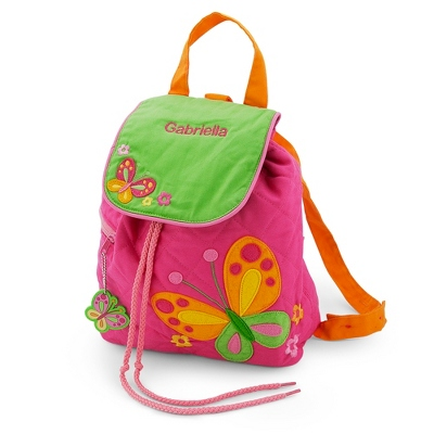 Personalized Butterfly Quilted Backpack by Things Remembered