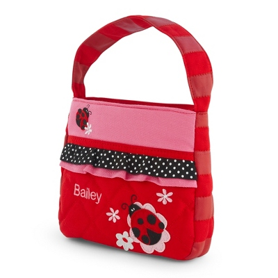 Quilted Ladybug Purse - Flower Girl