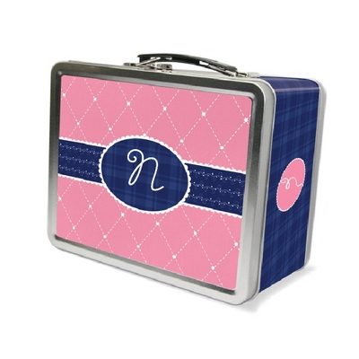 Quilted Monogram Lunch Box - Children's School Gifts