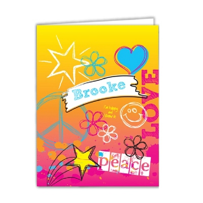 Rockin Rainbow Set of 2 Folders - Children's School Gifts