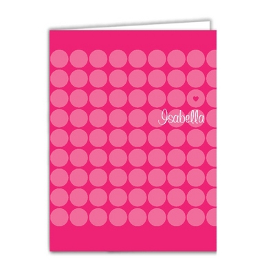 Think Pink Set of 2 Folders - Children's School Gifts