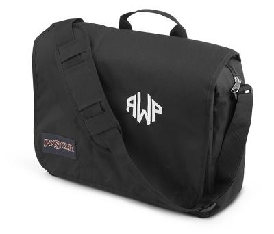 6edcaf3f7d47 Personalized Jansport Market Street Laptop Messenger Bag Black By ...