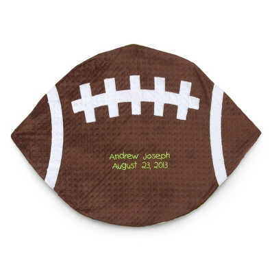 Plush Football Play Mat - Receiving Quilts & Belly Mats