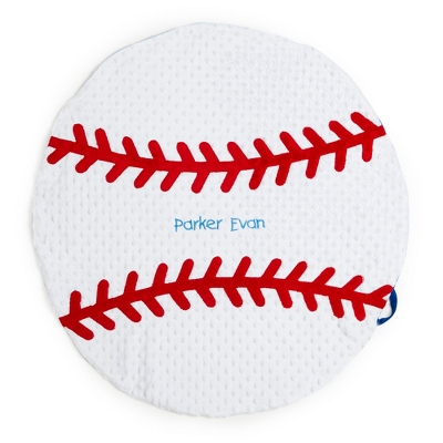 Plush Baseball Play Mat - Receiving Quilts & Belly Mats