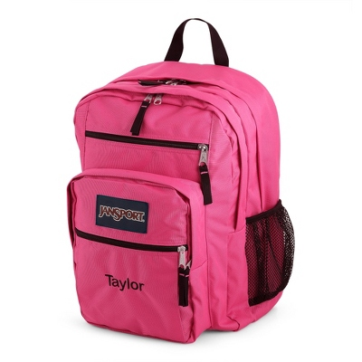 JanSport Big Student Backpack Fluorescent Pink - Embroidered Totes & Accessories