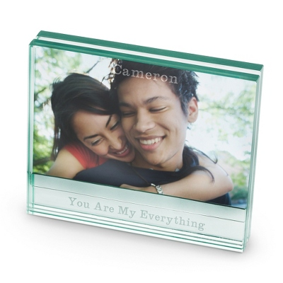 Glass Picture Frame with Engraving