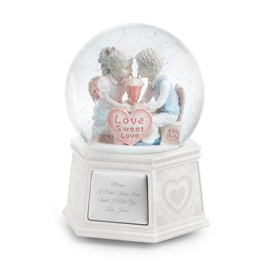 First Love Musical Snow Globe - Wedding & Anniversary Snow Globes