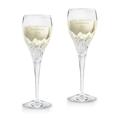 Sophia Cut Crystal Wine Glass Set - Barware & Accessories