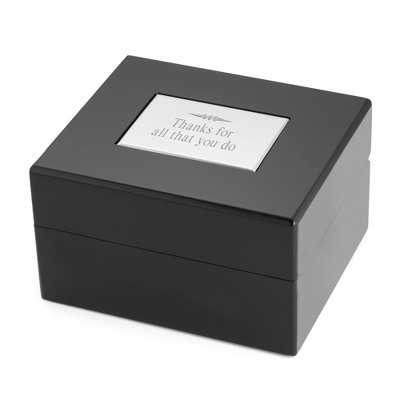 Black Lacquer Wrist Watch Box