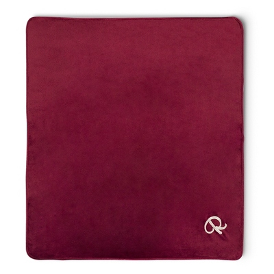 Plush Burgundy Blanket - $24.99