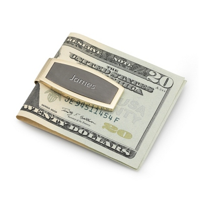 Black & Gold Money Clip