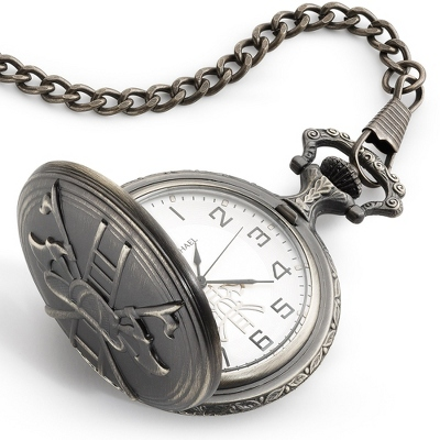 Engraved Pocket Watch for Husband