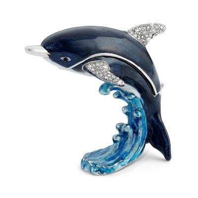 Personalized Miniature Dolphin Jeweled Box