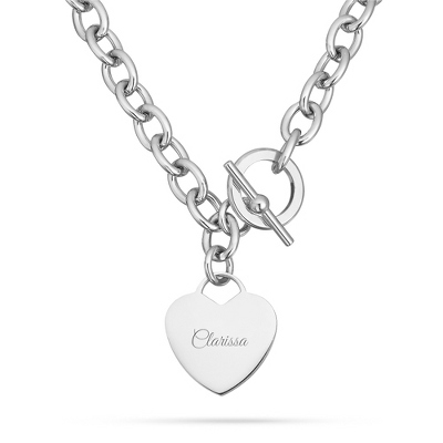 Platinum Dipped Toggle Necklace with complimentary Filigree Keepsake Box