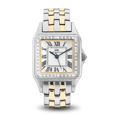 Ladies Two Tone Diamond Watch - UPC 825008350106