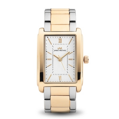 Ladies Classic Rectangle Two Tone Watch