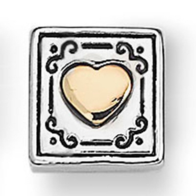 Words From the Heart Tile- Gold Heart - Fashion Bracelets & Bangles