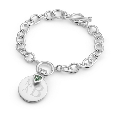 Celebrations 1 Stone Bracelet with complimentary Filigree Keepsake Box