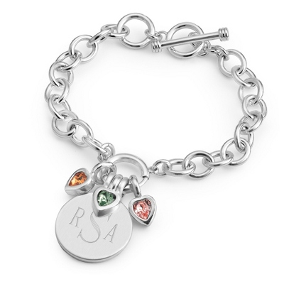 Celebrations 3 Stone Bracelet with complimentary Filigree Keepsake Box - $34.99