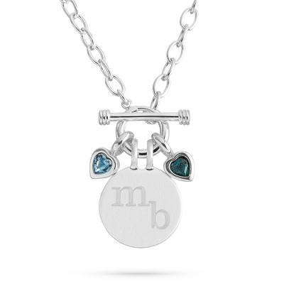 Celebrations 2 Stone Necklace with complimentary Filigree Keepsake Box