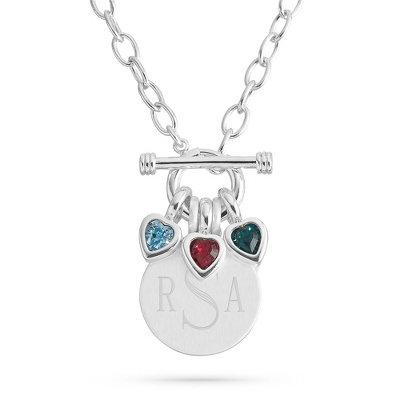 Celebrations 3 Stone Necklace with complimentary Filigree Keepsake Box - $34.99