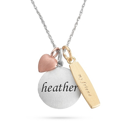 Gold Name Plate Necklace - 4 products