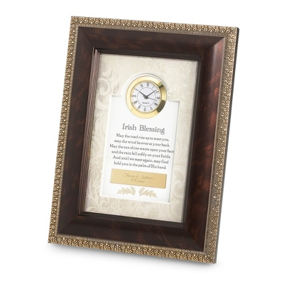 Irish Blessings Frame Clock