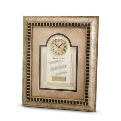 Footprints in the Sand Frame Clock - Religious Frames & Albums