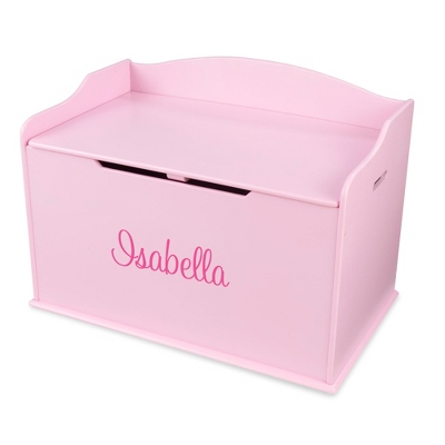 "30"" Pink Busy Bee Toy Box with Pink Name"