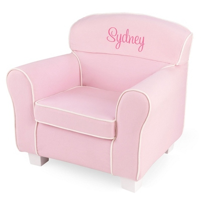 Pink Little Reader Chair with Pink Name - UPC 825008351813