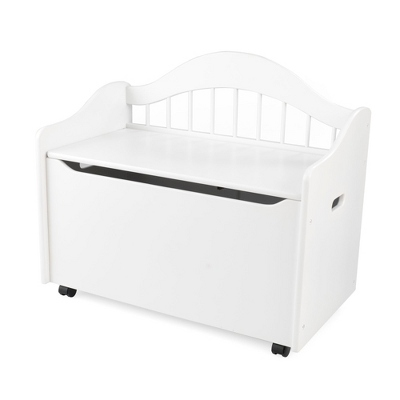 "33"" White Sit and Stow Toy Box with No Name"