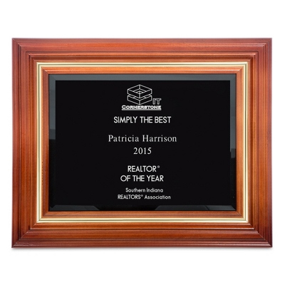 Cherry Plaque Award - $110.00