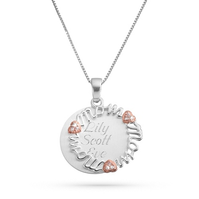 Pink Mom Swing Necklace with complimentary Filigree Keepsake Box - $34.99