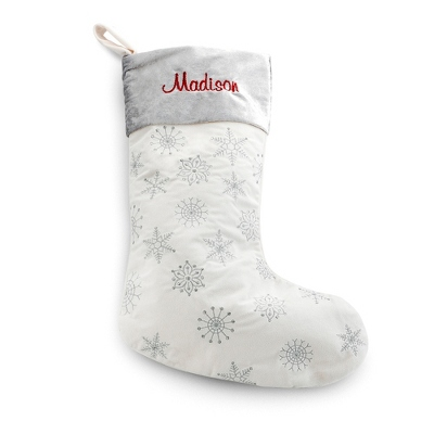 Snowflake Stocking - Holiday Decor